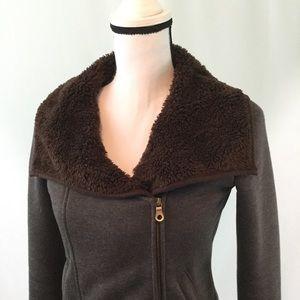 prAna Bomber Jacket Size Small Brown Heathered